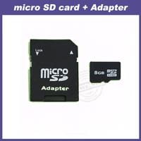 FREE SHIPPING 2GB 4GB 8GB 16GB 32GB Micro SD card 64GB SDHC Transflash 8GB TF CARD + Card Adapter