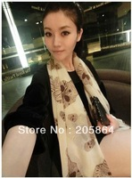 Free shipping printed scarf,1pc MOQ,2012 new design,personality big skull head shawl,ladies' fashion big size scarf,110*180cm