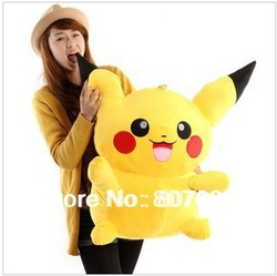 "Free shipping lovely Plush toy cartoon toy pokemon pikachu plush doll pillow birthday gift size 50cm ( 19.6"")(China (Mainland))"