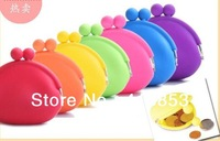 New Cute Lady/Girl/Women Silicone Coin Purses Wallet Originality Rubber Wallets Bag Case Wholesale retail C0382