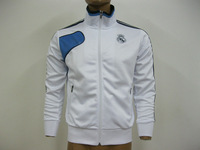 2013 New Fashion CPAM REAL MADRID White+Black Football Training Jacket High Thailand Quality Soccer Coat For Men