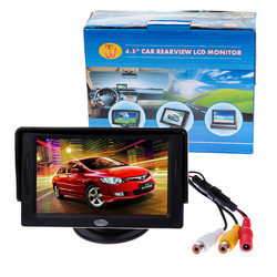 "CAR REAR VIEW KIT 4.3"" TFT LCD MONITOR DVD/STB/VCD/satellite Mirror Backup Camera 4:3 Screen #DY(China (Mainland))"