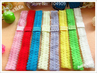 50pcs 0.8inch Baby Girl's Lace Headband Kid's Hair Accessoies Elastic Baby Headbands for Hair Flower