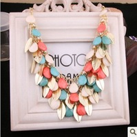New Arrival Western Style Charming  Acrylic Elegant OL Costly Multiple Fish Scale Collar Necklace CG2682 Some Color Different