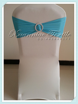 free shipping light blue spandex band for chair decoration
