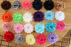 Mini Shabby Frayed Flowers - 1.5''Chiffon Fabric fascinator hair accessories 100pcs/lot(China (Mainland))