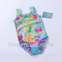Free Shipping NWT Girls Baby 1-8Y Faery Tinkerbell Swimsuit Swimwear Bathers Tankini Swim Costume wholesale