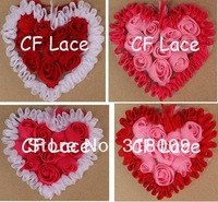 Free USA ePacket/CPAP 30pcs/lot  22 colors Chiffon Rosette Hearts,Shabby Chic Chiffon Heart Appliques,Hair Accessories