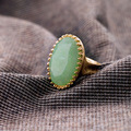 Cool Lady's Antique Rings Imitation Gemstone Vintage Fashion Classic Ring Jewelry Wholesale New SJJ101