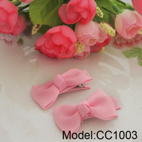 Fashion Baby Girl Hair Clips Single Hair Bows Hair Accessores Pink