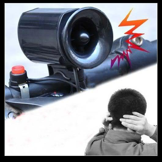 Free Shipping, New Black Bicycle Electronic Bell Alarm Siren Horn Loud Speaker(China (Mainland))