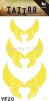 2014 Hot Design High Quality Waterproof Gold Body Tattoo Sticker Stickers Tattoos