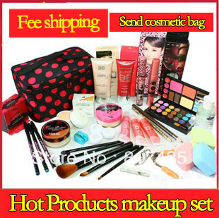 1PC Free shipping Make-up set full set combination make-up box plate cosmetics make-up child