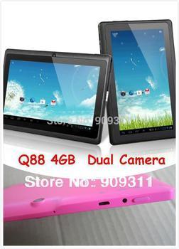 """7"""" Allwinner A13 Q88 tablet pc  4GB"""