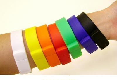 Silicone Wristbands USB 2.0 Flash Memory Pen Drive Disk Sticks 1GB 2GB 4GB 8GB 16GB 32GB 64GB Free Shipping(China (Mainland))