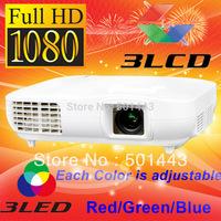 3000lms HDMI DVI Digital 3LCD Full HD LED Video 1080p Projector 1920x1080