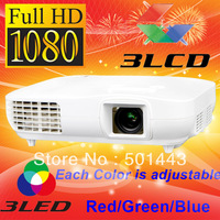 3000lms HDMI DVI Digital 3LCD Full HD LED Video 1080p Projector 1920x1080