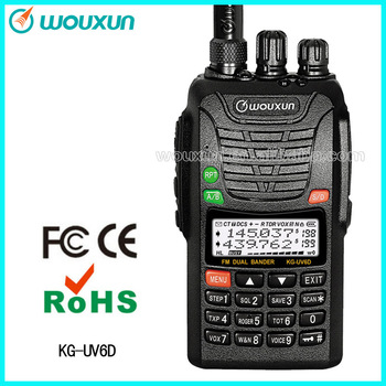 WOUXUN two way radio  KG-UV6D walkie talkie with Dual band Dual frequency  with 199 channels UHF/VHF