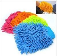 Retial 2pcs/lot Car Wash Glove Microfiber Chenille car cleaning cloth,chenille car cleaning glove car care