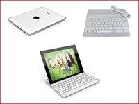 Mini Ultra Slim Aluminium Bluetooth Keyboard for ipad2 /3 -Also a Hard cover case for ipad 2/3 -Dropship - free shipping