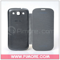 New back cover whole flip leather case battery housing case for Samsung Galaxy S3 i9300 Top qaulity with free shipping