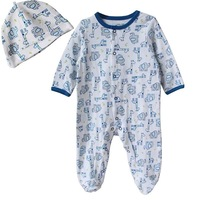 NEW 2 piece Infant Sleepwear+ Hat ELEPHANT & GIRAFFE 3~9months