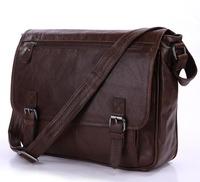 New arrival genuine leather mens fashion bags,hotsale cowhide vintage shoulder bag,business bag 7022LB