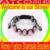 Factory outlets  shambala bracelets wholesale Fashion Jewelry  shamballa crystal bracelet Wrap Bracelet Free Shipping LV002