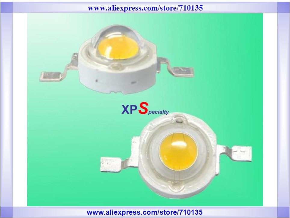 EMS Express wholesale high power LED 3W warm white 110-120LM 2700-3500K USA BRIDGELUX led lamp chip Mount Free Shipping(China (Mainland))