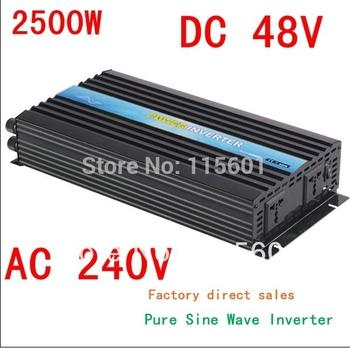 2500w inverter  Pure Sine Wave  Single Phase, Surge 5000w, DC48V, AC240V, 50Hz/60Hz