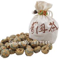 30 pcs/bag Ginseng flower Pu'er tea+Gift bag Free, Mini Yunnan Puer tea ,Chinese tea Free Shipping
