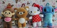 Wholesale 3D Plush dolls Bear teddy  stand rilakkuma Rabbit hard case for iphone 4 4S back skin cover case 20pcs/lot