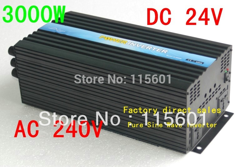 3000W INVERTER DC 24v to AC 240v Pure Sine Wave home cooling system Off-grid Inverter for solar(China (Mainland))