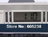 wholesale 16 pieces / lot Antique Bus Alarm Clock Driving Alarm Clock Never Fall Down