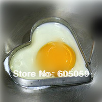 J6J UK001 bubble pack 10pcs/Lot stainless steel heart egg fried device size 10.5*9.5*1cm  fried pans eggs kitchenware