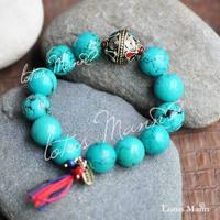 Lotus Mann Turquoise Wrap Bracelet