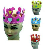 Free shipping -- 50pcs/lot , Birthday Item Crown EVA Material, Party Item Colorful Fashion Crown Mixed Color Wholesale