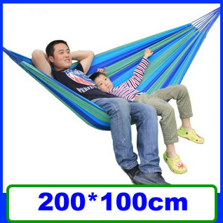New Arrival Canvas Double Camping Hammock Colorful Big Outdoor Camping Hammock  for Lovers Free Shipping SP58