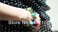 Free shipping, 2013 classic jewelry 0969 Beaded tassel multi-element hit Color Bracelet