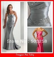 ED40 Most Popular Silver Strapless Evening Dress