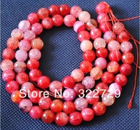 Free shipping DIY beaded jewelry  10 mm natural gem watermelon red the carved surface Agate loose beads 76 /pcs wholesale