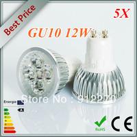 5pcs/lot Free shipping Dimmable High Power 4X3W 12W AC110-240V GU10 LED Light Bulb Downlight LED Lamp Spotlight LED Lighting