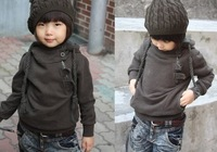 wholesell 5pcs/lot baby children boys Fasion Cute Zipper Fleece Sweater hoody coat free shipping HOT