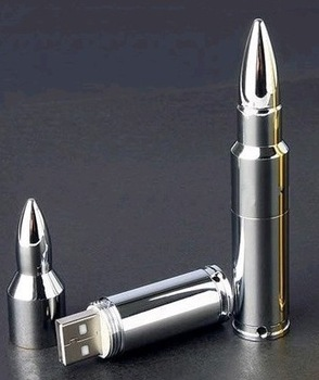 USM  (1)  Brilliant  Silver  Metal  Bullet  USB Flash Drive Computer USB  Storage Device  4GB 8GB 16GB 32GB 64GB