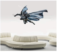 Free shipping ,batman Wall Stickers,  high quality, removeable cartoon sticker, Epacket shipping to USA