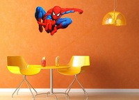 Free shipping ,spiderman Wall Stickers,  high quality, removeable cartoon sticker
