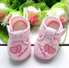 size 13 (12 cm )   fashion pair Baby boys first walkers embroidered heart Baby Shoes girls  Soft Sole(China (Mainland))