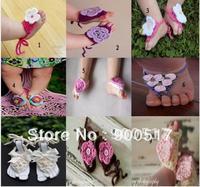 Baby crochet sandals infant lovely Socks Shoe Cover baby Sock infant Shoes 12designs Girls shoes in stock