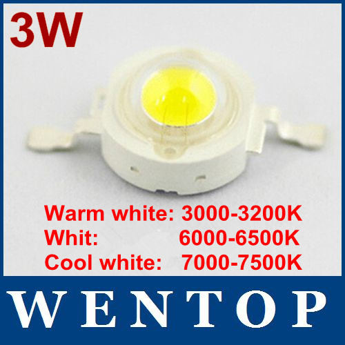 30pcs Epistar Chip 3W LED Bulb Diodes Lamp Beads 240lm-300lm.For 3W 6W 9W 12W LED Spot Light(China (Mainland))