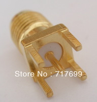 SMA female straight solder connector for PCB mount